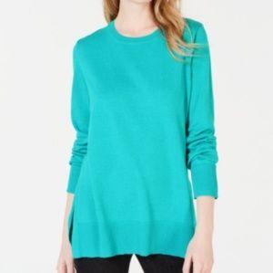 Maison Jules Crew Neck Sweater Blue Knit